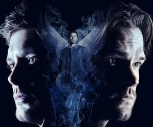 dean winchester, jared padalecki, and misha collins image