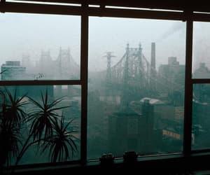 city, rain, and window image