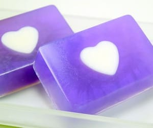 heart, purple, and soap image
