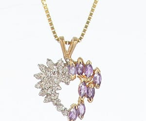 amethyst, diamond, and gold image