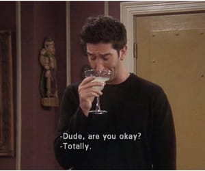 friends, ross, and sad image