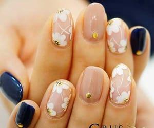 art, nails, and navy image