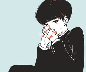 anime, bandages, and boy image