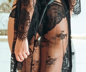 lace, lingerie, and black image