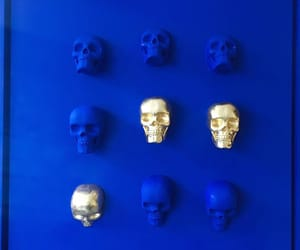 art, installation, and blue image