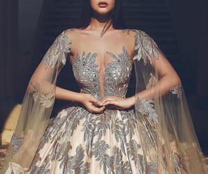 fashion, dress, and crown image