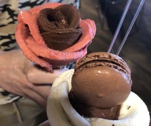 chocolate, food, and macaroon image