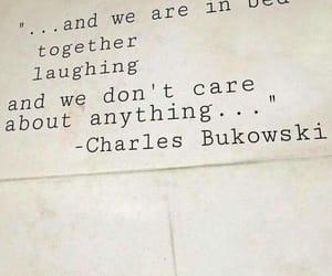 anything, bed, and charles bukowski image