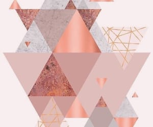 pink, triangle, and wall image