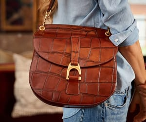 leather bag, faux croc, and dooney and bourke image