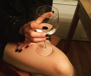 black nails, legs, and nailpolish image