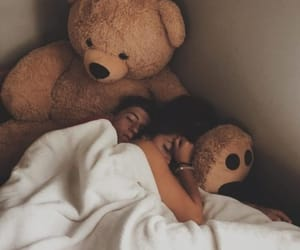 couple, Relationship, and teddy bear image