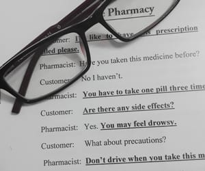 book, conversation, and pharmacy image