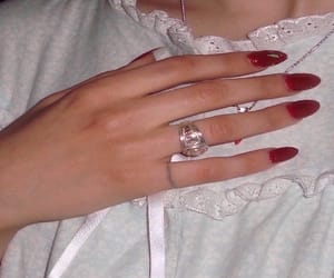 hands, jewelry, and nail polish image