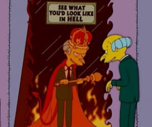 the simpsons, hell, and simpsons image