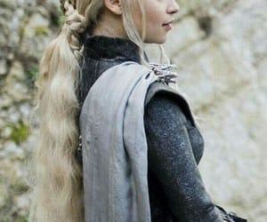 cloak, daenerys, and long hair image