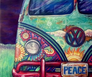 hippie, hippy, and peace image