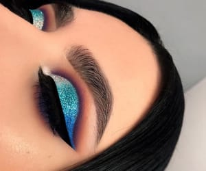 blues, makeup, and silver image