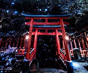 kyoto, photography, and snowflake image