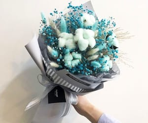 blue, cute, and bouquet image