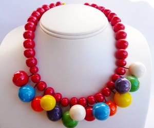 etsy, flying colors, and vintage ceramic bead image