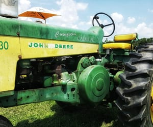 agriculture, green, and tractor image