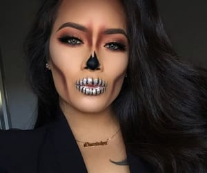 girl, haloween, and makeup image