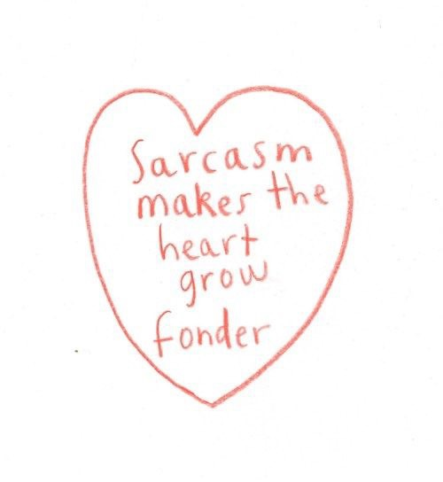 sarcasm, heart, and quotes image