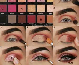 make up, make up eyes, and eyes shadows image
