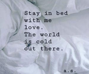 bed, blankets, and phrases image