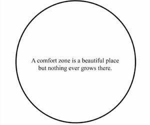 brave, comfort zone, and flowers image