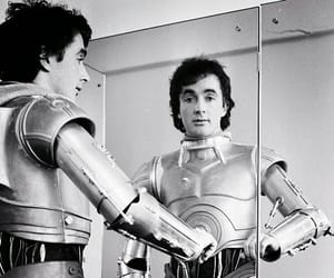 black and white, c3po, and droid image