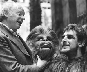 black and white, chewie, and star wars image