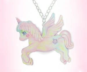 necklace, pastel, and pink image