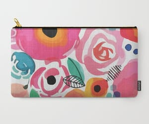 abstract, floral, and xoxo image
