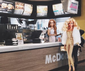 aesthetic, barbie, and burger image
