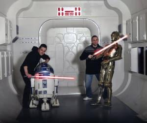 c3po, lightsaber, and r2d2 image