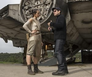 star wars, daisy ridley, and millennium falcon image