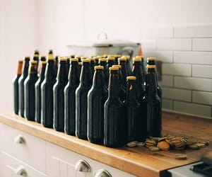 beer, bottle, and drink image