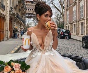 dress, paris, and food image