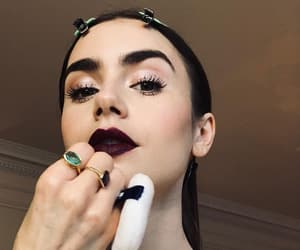 lily collins, bafta, and beauty image