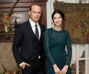 Claire, jamie fraser, and sam heughan image