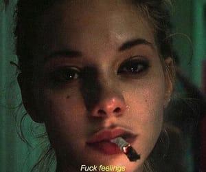 girl, smoke, and cry image