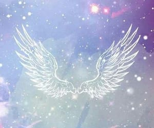 wings, angel, and wallpaper image