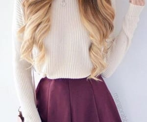 dressy, outfit, and maroon image