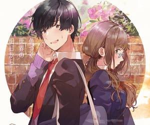 couple, anime couple, and love image