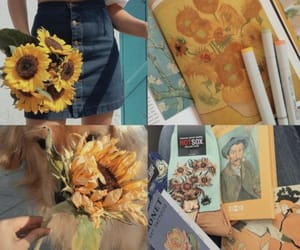 sunflower, van gogh, and yellow image