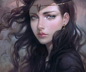 girl, black hair, and fantasy image