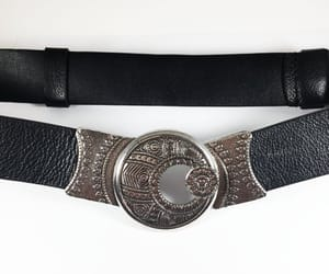 accessory, belt silver tone, and decorated round image