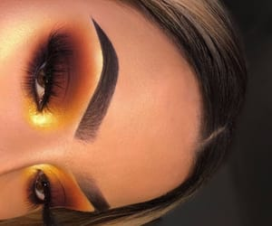 brow, yellow, and eyes image